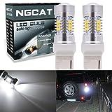 ngcat Auto-LED Leuchtmittel 274407440verchromt NA Halogenlampe 992T20283521SMD Chipsätze LED Leuchtmittel mit Objektiv Projektor Bremse Drehen Signal Schwanz Backup Reverse Lampen, Xenon Weiss, 10–16V 10,5W