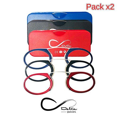 61b774c6ba (Pack 2) Gafas de lectura Delta Glasses estillo Quevedo - 1/1,