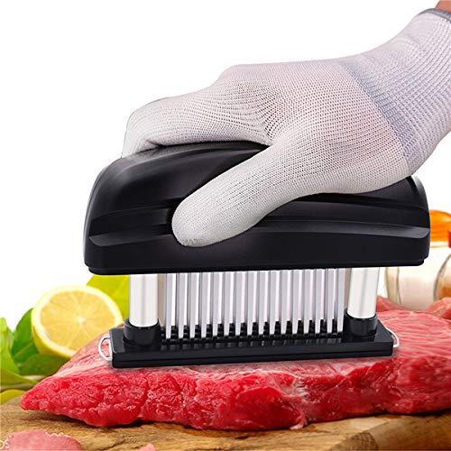 HIMAmonkey Fleischklopfer Nadel,48 Edelstahl scharfe Klinge Fleischklopfer, kommerzielle Qualität Küche Kochwerkzeug Fleischklopfer Werkzeug für Rindfleisch(Schwarz)