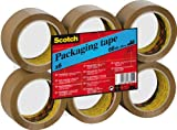 Scotch C5066F6 Packaging Tape - Brown, 6 Rolls