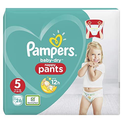 Pampers Baby-Dry Pants/Windeln, Größe 5, mit Luftkanälen, 26 Stück