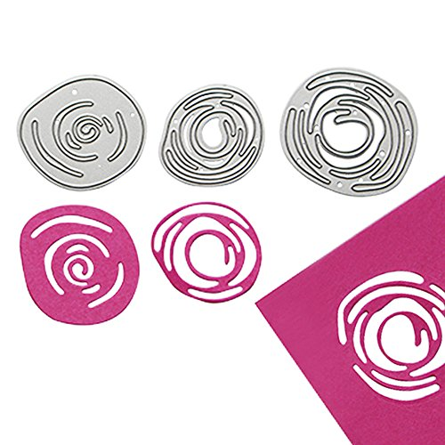 enipate Metall Formen 3Spirale Blumen Bud Abstrakt Scrapbook Album Einladung Home Dekoration Prägung - Halloween-kürbis Tinkerbell Schablonen