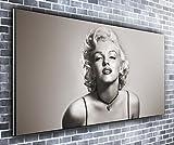 Canvas35 Kunstdruck auf Leinwand, Motiv Marilyn Monroe, 139,7 x 61 cm, Schwarz/Weiß