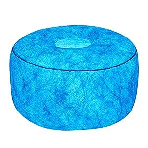 7even LED-Hocker 50cm Durchmesser | individuelle Farbeinstellung | aufblasbares Sessel Kissen inkl. Pumpe…