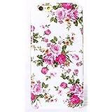 Phone Kandy® Bastante floral de la vendimia Caso de Shell duro de la piel y la pantalla del protector para carcasa funda (iPhone 6 6s, Ramo blanco / rosa)