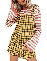 Mono Largo Mujeres ❤️JiaMeng Pijamas elásticos de la Cintura de Las Mujeres Pantalones de algodón