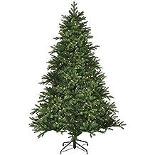Negro de árboles 382775-02 Kiowa árbol de Navidad Artificial con luces de color altura: 155 cm; Diámetro: 42 cm, 140 ledes de ramas de polietileno 948/aguja