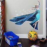 JUNMAONO Frozen Elsa Wandaufkleber/Wandgemälde/Wand Poster/Wandbild Aufkleber/Wandbilder/Wandtattoo/Pinupbild/Beschriftung/Pad einfügen/Tapete/Tapezieren/Tapeten/Wand Zeitung/Wandmalerei/Haftnotiz/Fühlen Sie sich frei zu kleben/Instant Aufkleber/3D-Stereo-Wandaufkleber