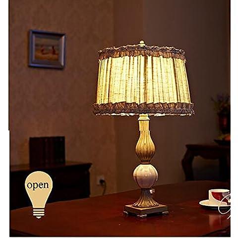 flashing light- lámparas decorativas princesa de la tela de la lámpara país europeo americano lámpara de cabecera dormitorio