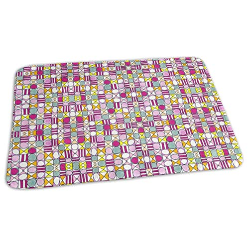 Tic Tac Toe Stripe Baby Portable Reusable Changing Pad Mat 19.7x27.5 inch -