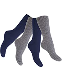 Original Footstar Thermo-Wollsocken - Warme Winter Socken für Damen und Herren - 4 Paar