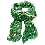Alpenflüstern Crush-Trachtenschal springende Hirsche ATX03800050 grün