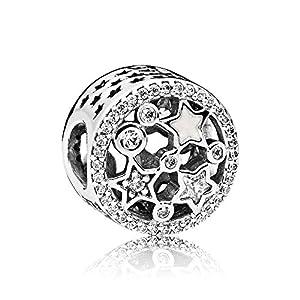PANDORA -Glanzvolle Sterne Charm 796373CZ, Silber (Weiß)
