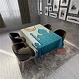QWEASDZX Mantel Poliéster Estilo Nacional Impresión Digital Manteles Mesa Rectangular A Prueba de Aceite y Resistente al Agua sujeta manteles Adecuado para Interiores y Exteriores 100x140cm