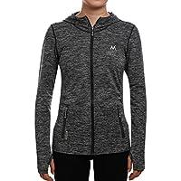 SEEU Sports Jacket Damen Fitness Sweatshirts voll zip atmungsaktiv Langarm Funktionsshirt Lauf jacke Hoodie Longsleeves Shirts Gr.S bis L, 5 Farben