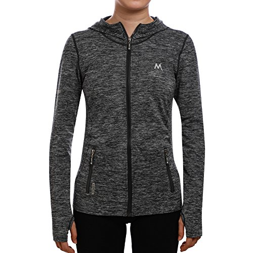 SEEU Damen Trainingsjacke, Grau, L (Modische Hüte Für Damen Winter)