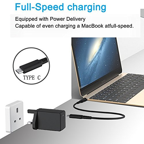 Puizhak Universal 45W Type C Wall Mount Charger with 1 8M C2C cable