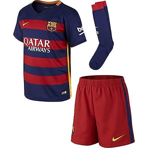 2015-2016 Barcelona Home Nike Little Boys Mini Kit