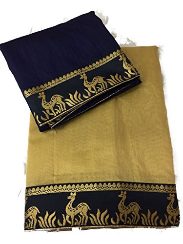 Generic Chanderi Saree With Blouse Piece (New_102_Chiku_Free Size)