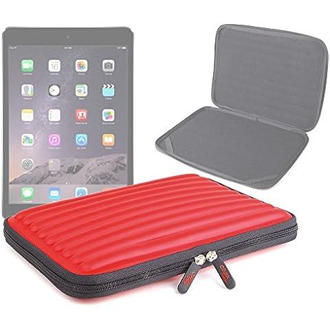 DURAGADGET Funda Roja Protectora Para Apple iPad Air 2 ( Wi-Fi, Wi-Fi + Cellular ) - Material Espuma Con Memoria - Forma Ondulada