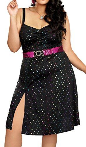 Disco Diva Plus Size Women's Fancy Dress Costume 3X
