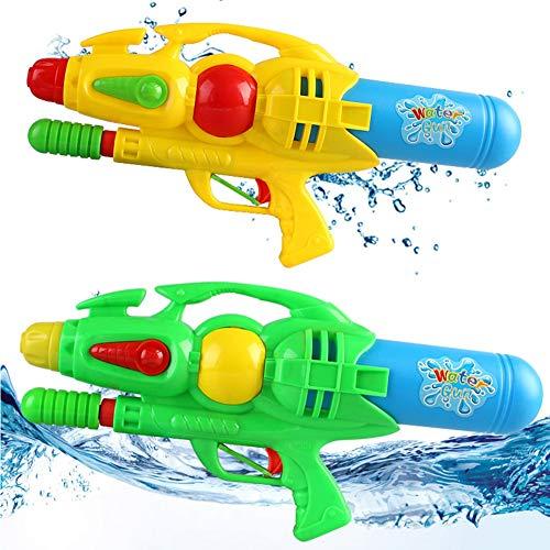 2er-Pack Kinderwasserpistolen, Strandwasserspielzeug, Eltern-Kind-Kampf, Wasserpistolen-Spielzeug zum Ziehen