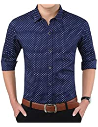 Peppyzone Men's Printed Full Sleeves Formal Shirt