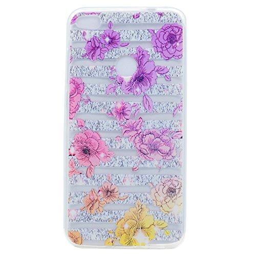 Huawei P8 Lite 2017 Hülle, Voguecase Silikon Schutzhülle / Case / Cover / Hülle / TPU Gel Skin für Huawei P8 Lite 2017 / Honor 8 Lite(Hut Mädchen) + Gratis Universal Eingabestift Farbe Blume