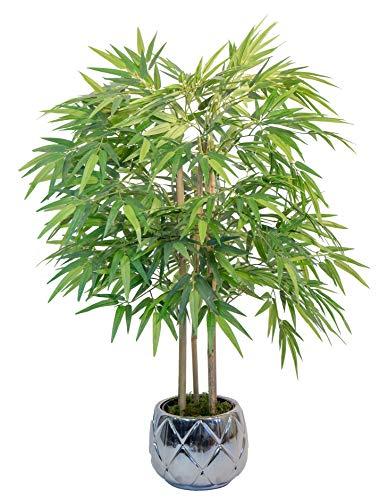 Bambù artificiale di canne naturali, ideale per la decorazione domestica, albero artificiale, pianta artificiale (105 cm)