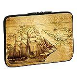 PEDEA Design Schutzhülle Notebook Tasche bis 15,6 Zoll (39,6cm), Sailing Ship