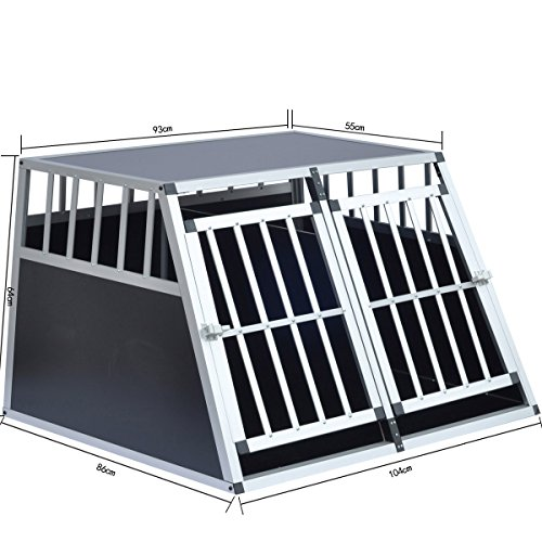 Delman Alu Hundetransportbox stabile Ellipsenrohren als Gitter 10-2004 -