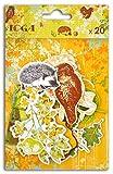 Toga CH57Hojas & châtaignes-Juego de 21Chipboards Impresos cartón 11x 14,5x 1,5cm, Multicolor