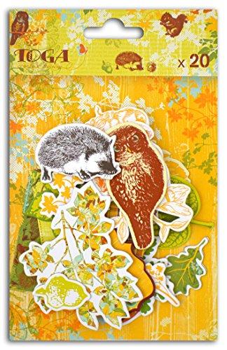 Unbekannt Toga CH57Blatt & Kastanien-21Chipboards Gedruckt Karton Mehrfarbig 11x 14,5x 1,5cm (Kastanien-blatt)