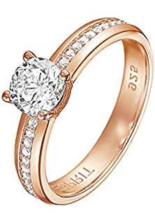 ring rose silber