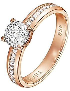Esprit Jewels Damen-Ring 925 Sterling Silber grace glam rose ESRG91609C1