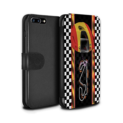 Stuff4 Coque/Etui/Housse Cuir PU Case/Cover pour Apple iPhone 7 Plus / Russie/Sochi Design / F1 Piste Drapeau Collection Espagne/Catalogne