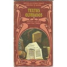 TEXTOS OLVIDADOS