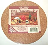 Set of 4 natural cork placemats
