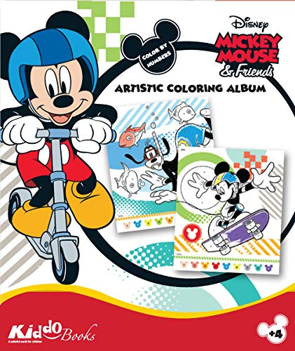 block Mickey Mouse and Friends - Micky Maus und Freunde - Coloring Album - Color by Number - Malen nach Zahlen (9060) ()
