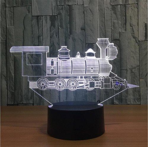 Fünf-licht-leuchter-glühlampen (Xh&Yh 3D Lichter Bunte Fernbedienung Touch LED Lichter Kreative Zug Nachtlicht Bluetooth Stereo Mit 5 Farbwechsel)