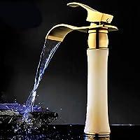 by-antique naturale giada e oro cascata rubinetto Continental fase basin