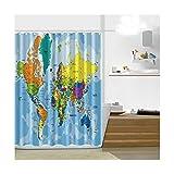 KnSam Anti-Schimmel Duschvorhang Badewanne Vorhang PEVA Waschbar, Wasserdicht, Anti-Bakteriell inkl. 12 Duschvorhangringe für Badzimmer - Stil 3 90x180cm