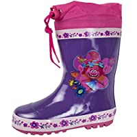 Lora Dora Trolls Girls Tie Top Wellington Boots