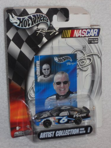 hot-wheels-nascar-2004-artist-collection-6-mark-martin-pfizer-ford-taurus-by-mattel
