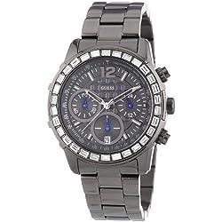 W0016L3 Guess Women's Watch Analogue Quartz Black Dial Steel Strap, Black