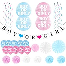 Paquete de Revelación de Género Decoración Unisex para Baby Shower – Banner