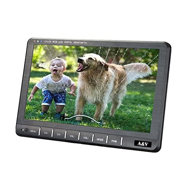 A&V DA-901-9 Inch Portable TV with HDMI-Port,Freeview TV Tuner- HD Aerial Included 515DYEQfsoL