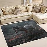 ingbags Super Weich Moderner Dinosaurier, ein Wohnzimmer Teppiche Teppich Schlafzimmer Teppich für Kinder Play massiv Home Decorator Boden Teppich und Teppiche 160x 121,9cm, multi, 80 x 58 Inch
