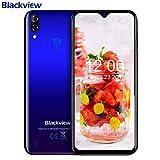 Blackview A60 Pro Smartphone,6.088' Waterdrop Schermo,Android 9.0 4G LTE Cellulari Offerte,4080mAh Batteria,Dual SIM Telefonia Mobile,3GB RAM 16GB ROM,Riconoscimento facciale,Sim Free Phone(Blu)