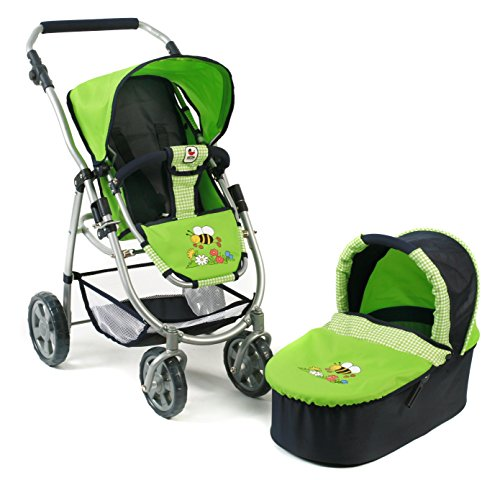 Bayer Chic 2000 638 16 - Kombi-Puppenwagen 2-in-1 Emotion, Bumblebee, grün